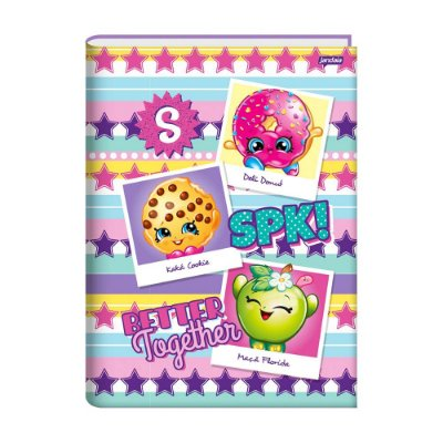 Caderno 1/4 Brochura Shopkins - Estrelas - 96 Folhas - Jandaia