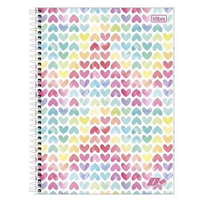 Caderno D+ - Corações - 10 Matérias - Tilibra