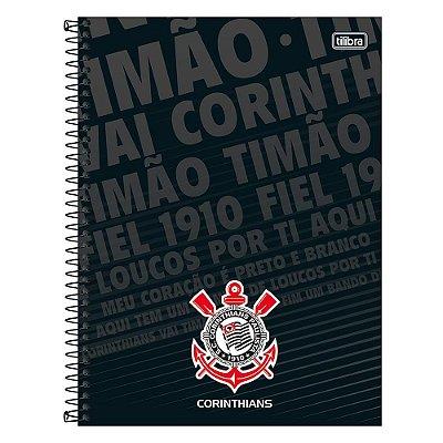 Caderno Corinthians - Escudo - 80 Folhas - Tilibra