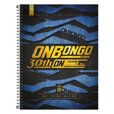Caderno Onbongo - Azul - 160 Folhas - Tilibra