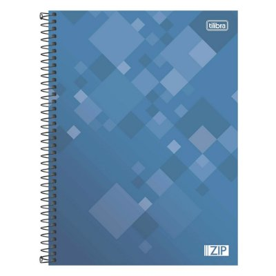 Caderno Zip - Azul - 16 Matérias - Tilibra