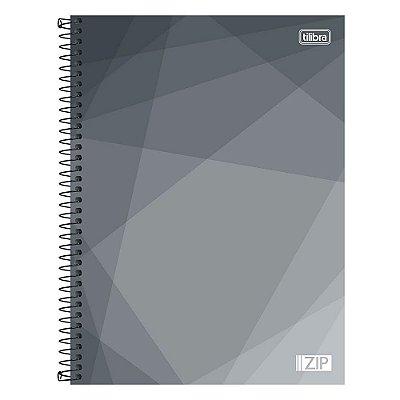 Caderno Zip - Cinza - 16 Matérias - Tilibra