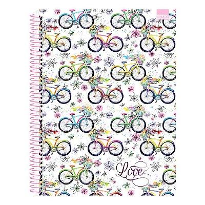 Caderno Love - Bicicletas - 10 Matérias - São Domingos