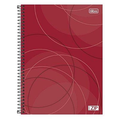 Caderno Zip - Vermelho - 20 Matérias - Tilibra