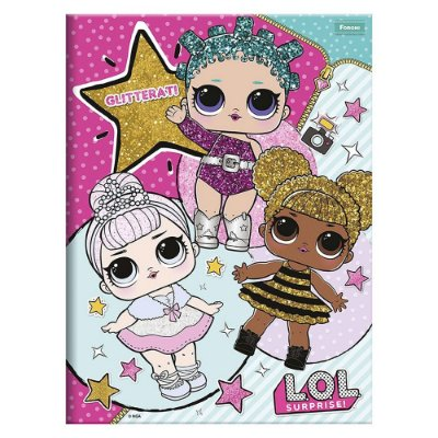 Caderno Brochura LOL - Glitterati - 96 Folhas - Foroni