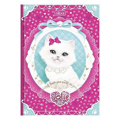 Caderno Brochura Jolie Pet - Gato Branco - 96 Folhas - Tilibra