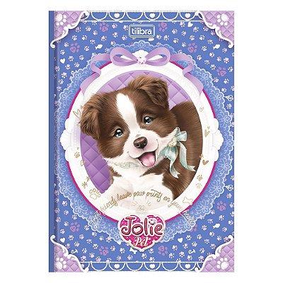 Caderno Brochura Jolie Pet - Cachorrinho Com Laço - 96 Folhas - Tilibra