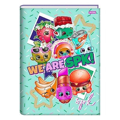 Caderno Brochura Shopkins - Granulado - 96 Folhas - Jandaia