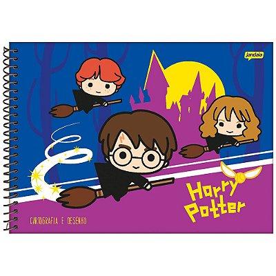 Caderno de Cartografia e Desenho Harry Potter - Azul/Roxo - Jandaia