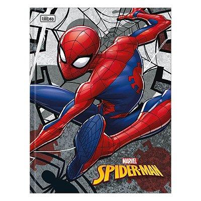 Caderno Brochura Spider Man - Teia Cinza - 48 Folhas - Tilibra