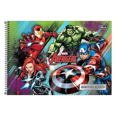 Caderno de Cartografia e Desenho Avengers - Verde - Tilibra