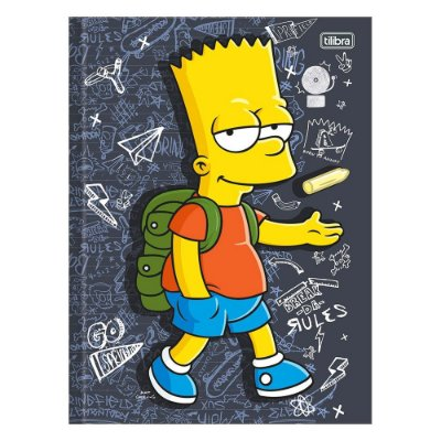 Caderno Brochura The Simpsons - Bart na Escola - 48 Folhas - Tilibra