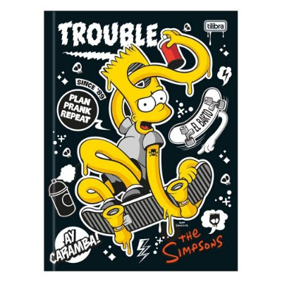 Caderno Brochura The Simpsons - Bart no Skate - 48 Folhas - Tilibra