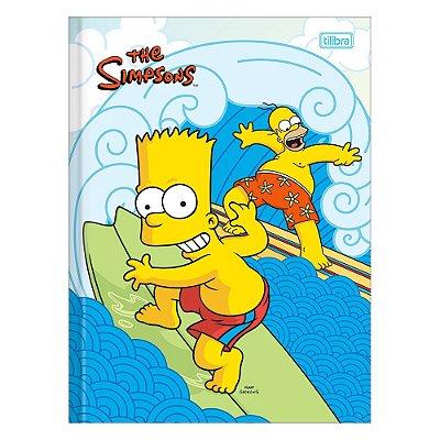 Caderno Brochura The Simpsons - Bart e Homer - 48 Folhas - Tilibra