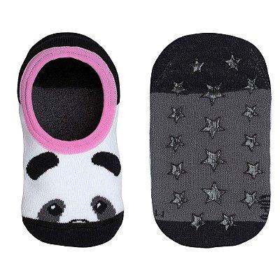 Meia Sapatilha Infantil Antiderrapante - Panda - Lupo