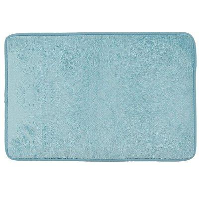 Tapete Para Banheiro Foam - Azul - Realce Premium