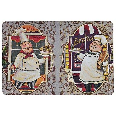 Tapete Chef 40cm x 60cm - Chefes de Cozinha - Via Star