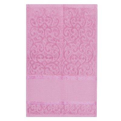 Toalha de Lavabo Para Bordar Melina - Rosa - Karsten