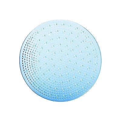 Tapete Redondo Antiderrapante Para Box Attuale - Azul - Corttex