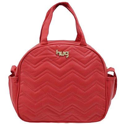 Bolsa de Maternidade com Trocador Chevron G - Vermelha - Hug