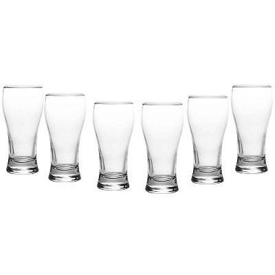 Jogo de Copos Para Cerveja Joinville 200ml - 6 Peças - Nadir