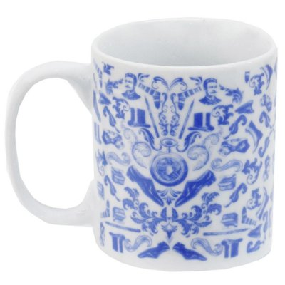 Caneca em Porcelana Indigo Blue 300ml - Accessories - Incasa
