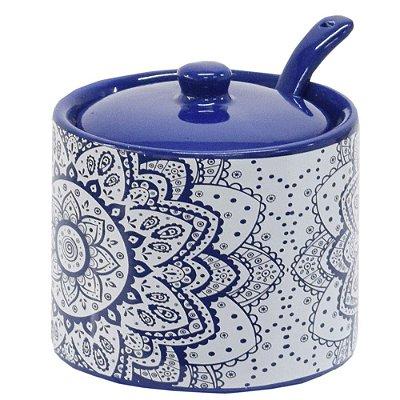 Açucareiro em Cerâmica Indigo Blue - Incasa
