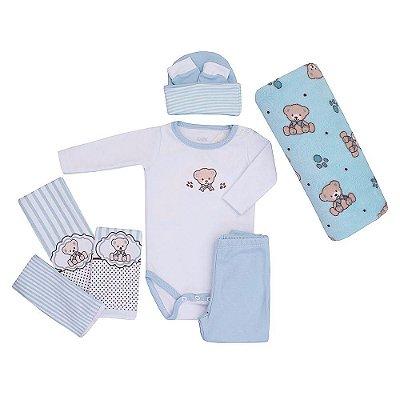Baby Kit - Ursinho Azul - 8 Peças - Colibri