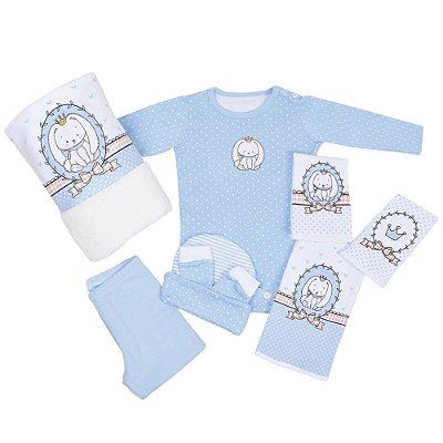 Baby Kit - Coelhinho Azul - 8 Peças - Colibri