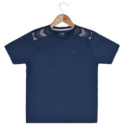 Camiseta Infantil Masculina Dryline - Azul - Elite