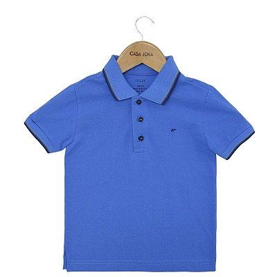 Camisa Polo Básica Infantil - Azul - Ellus
