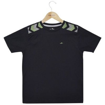 Camiseta Infantil Masculina Dryline - Preta - Elite