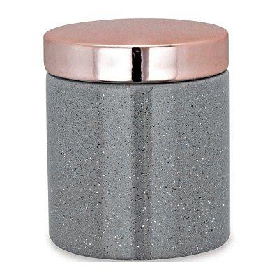 Pote Organizador em Cerâmica 10cm - Cinza - Mart