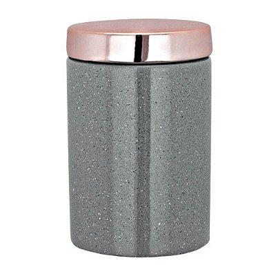 Pote Organizador em Cerâmica 12cm - Cinza - Mart
