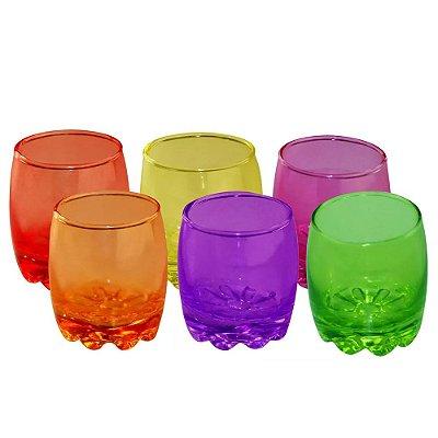 Jogo de Mini Copos Shot Colors 60ml - 6 Peças - Wincy