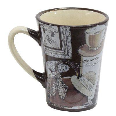Caneca em Cerâmica Coffee 90ml - Café - Wincy