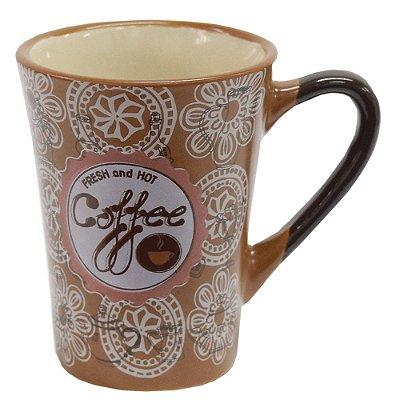 Caneca em Cerâmica Coffee 90ml - Caramelo - Wincy
