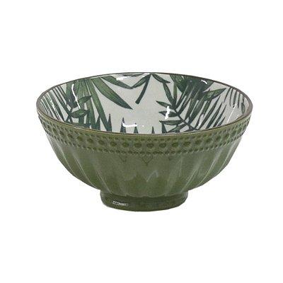 Bowl em Porcelana Texturizado 280ml - Tropical Verde - Full Fit