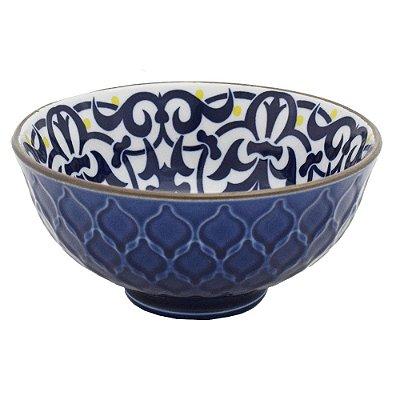 Bowl em Porcelana Texturizado 280ml - Jacquard Azul - Full Fit
