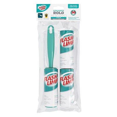 Conjunto Rolo Adesivo - 3 Peças - Flash Limp