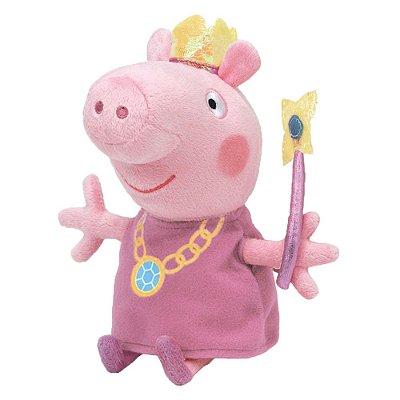 Pelúcia Beanie Buddies Ty Peppa Pig M - Princess - DTC