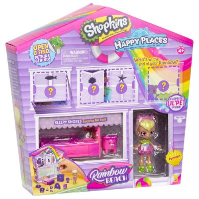 Shopkins Happy Places Rainbow Beach - Casinha Surpresa - DTC