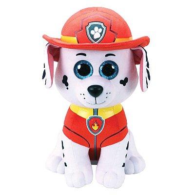 Pelúcia Beanie Buddies Ty Patrulha Canina Grande - Marshall - DTC