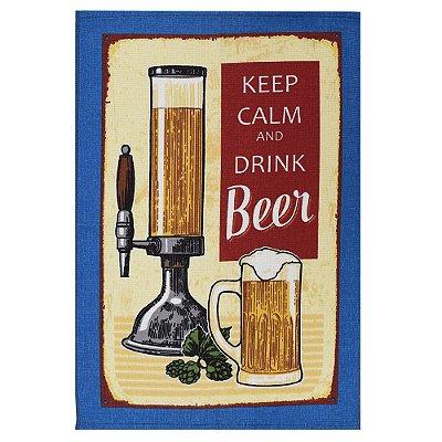 Pano de Copa Felpudo - Keep Calm And Drink Beer - Döhler