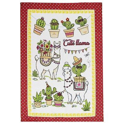 Pano de Copa Felpudo - Cute Llama  Döhler