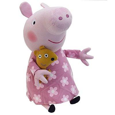 Pelúcia Beanie Buddies Ty Peppa Pig Grande - DTC