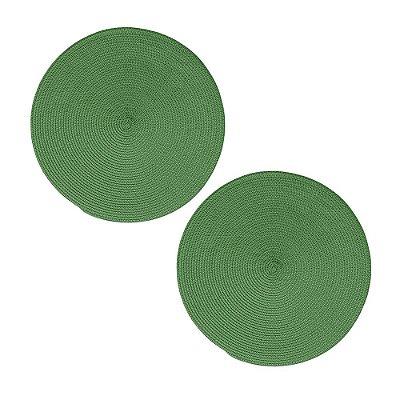 Jogo Americano de Trama - 2 Peças - Verde Fresno - Lyor