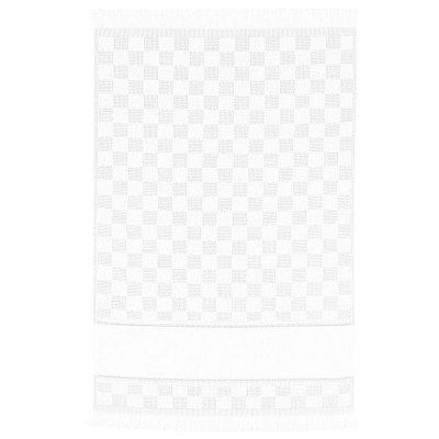 Pano de Copa Verona Xadrez Para Bordar - Branco - Döhler