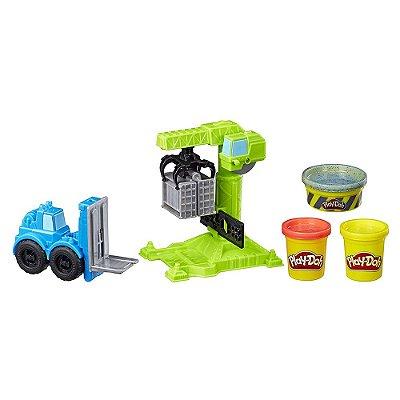 Conjunto Play-Doh Wheels - Guindaste e Empilhadeira - Hasbro