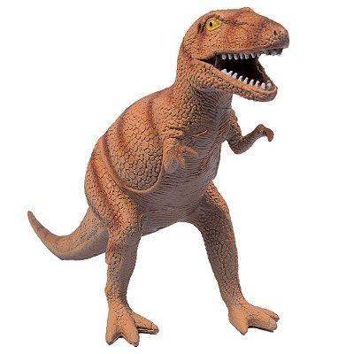 Dinossauro com Som - Tiranossauro Rex Marrom - Buba